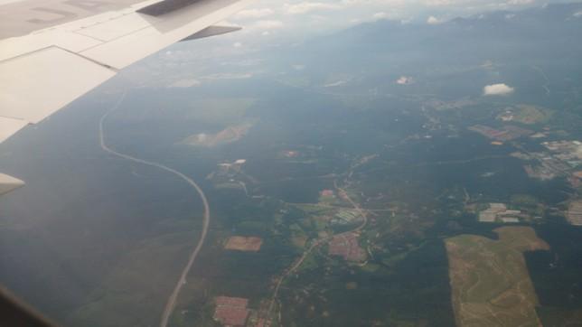 マレーシア上空から