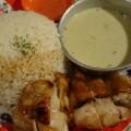 グリーンカレー&海南鶏飯コンビ